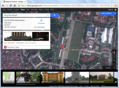 Sử dụng bản đồ GoogleMaps