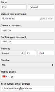 Tạo tài khoản Gmail - timoday.edu.vn
