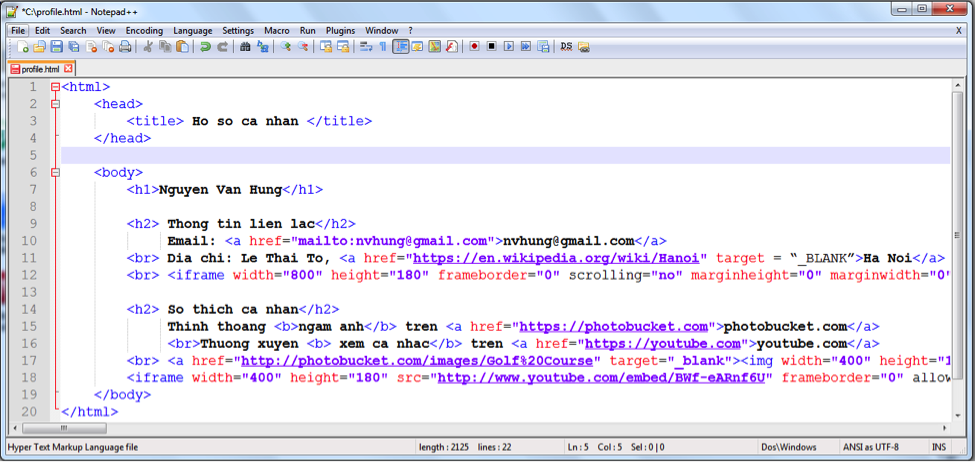 Mã nguồn HTML