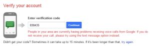 Nhập mã xác nhận Gmail - timoday.edu.vn