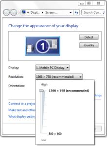 Thay đổi độ phân giải màn hình