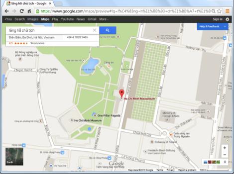 Chế dộ bản đồ Google Maps