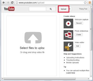Upload Video lên YouTube