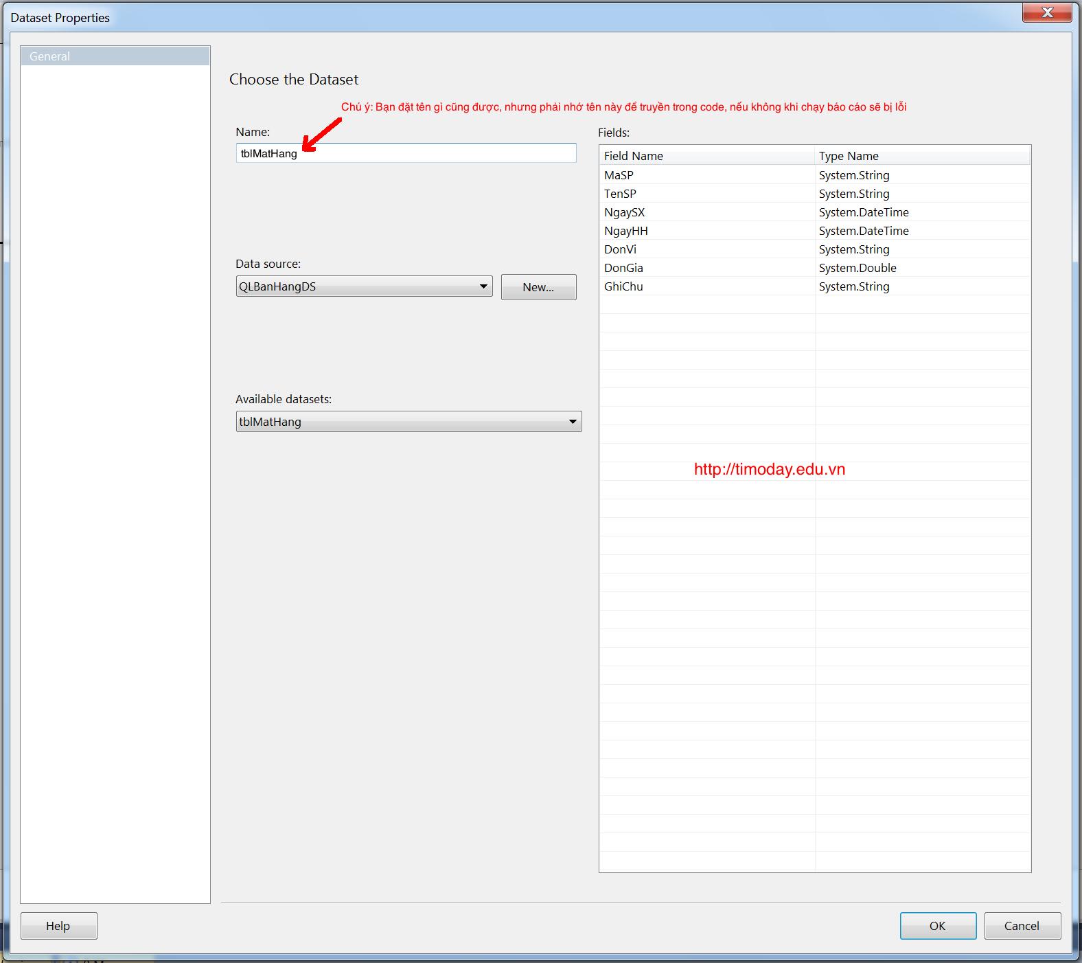 Tạo báo cáo dùng control ReportViewer | Tìm ở đây
