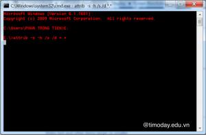 Cách các file ẩn khi bị virus tấn công