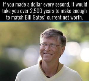 Làm thế nào để giàu bằng Bill Gates?