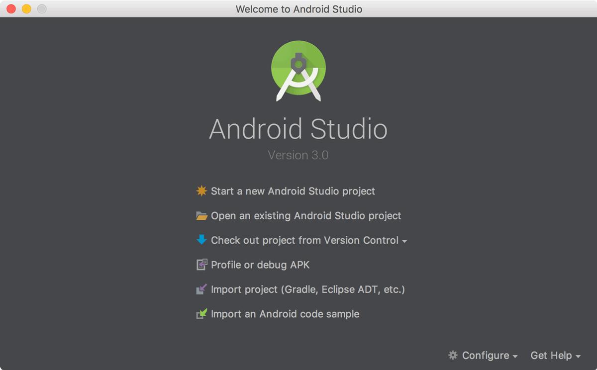 Khởi động Android Studio