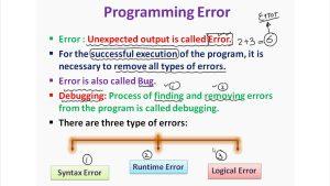 Các loại lỗi trong lập trình